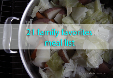 21 Family Favorite Meals List