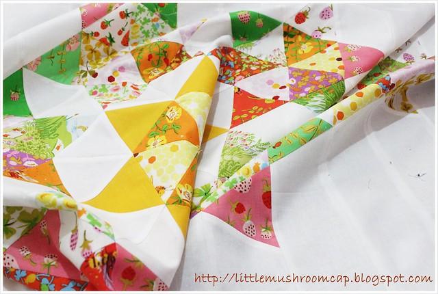 Briar Rose quilt_ lapsize quilt_ handmade