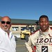 Herschel Walker and Bobby Rahal chat after a 2-seater ride at Sonoma