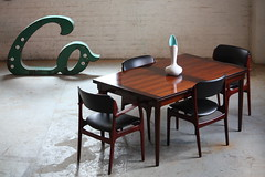 Arresting Danish Mid Century Modern Rosewood Dining Table &amp Chairs (Denmark, 1960's)