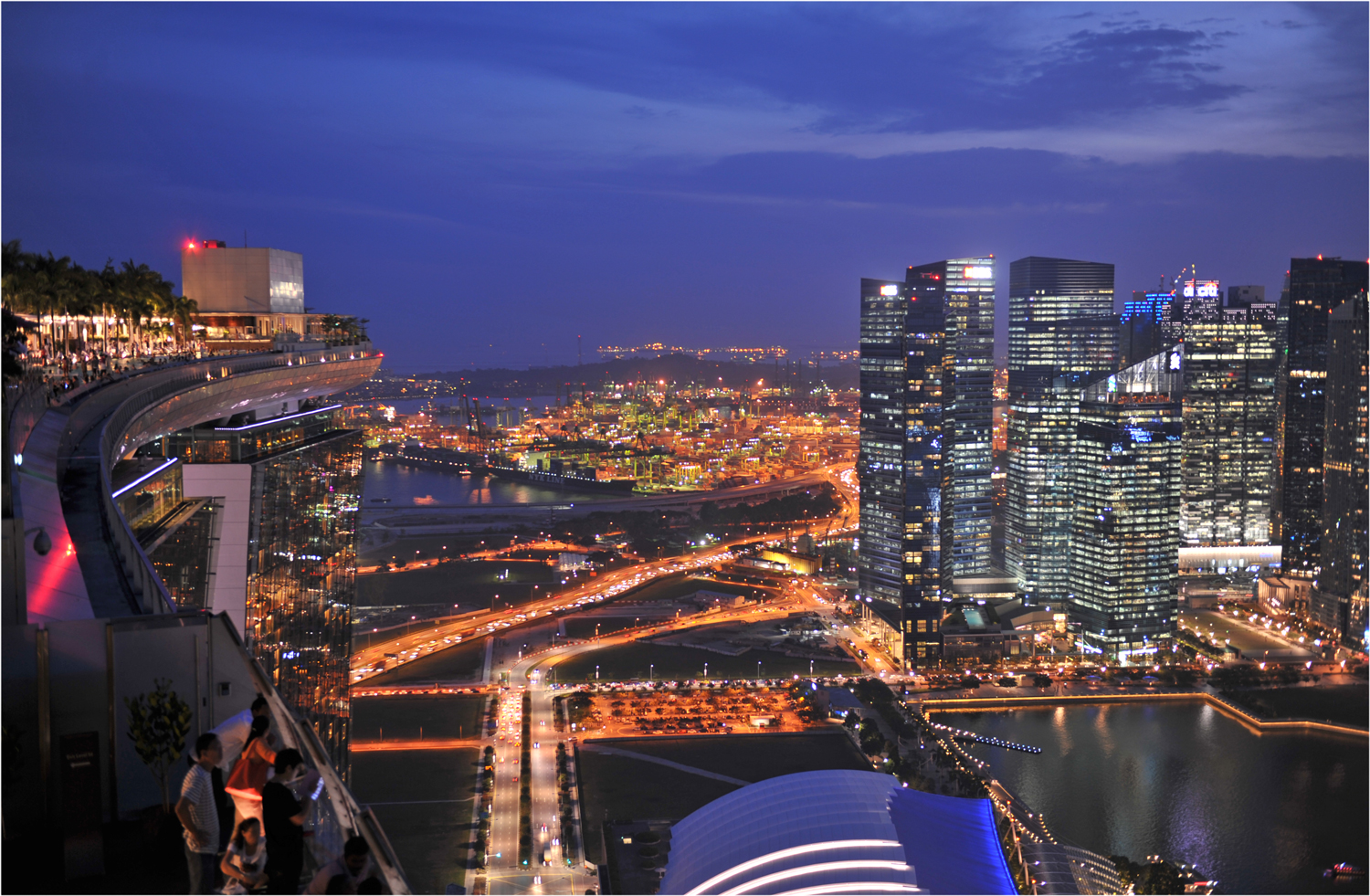 Singapore City by night (view from the Skypark)
