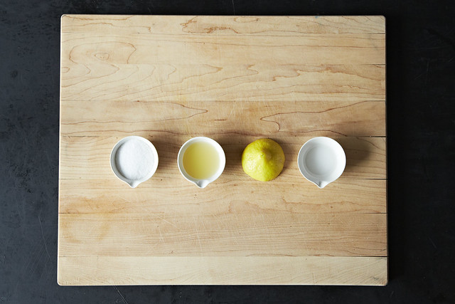 Cleaning cutting board from Food52
