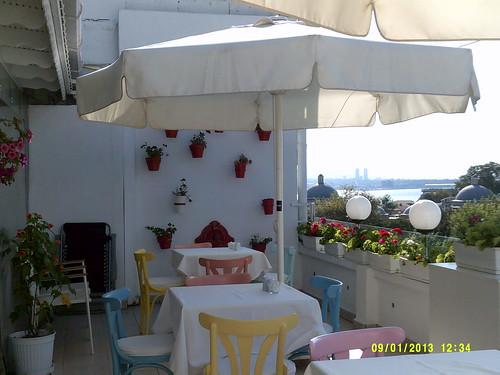 Hotel Sultanahmet's rooftop terrace
