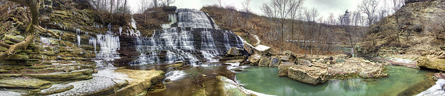 Albion Waterfalls Panoramic