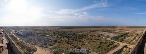Вид на північ. До приміщень ліворуч від реакторного залу вела естакада-галерея