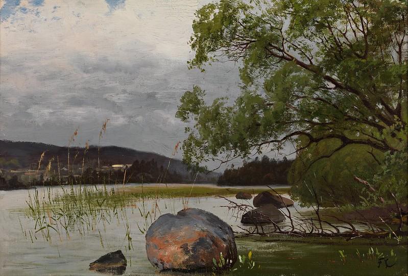 Fanny Churberg - Shore landscape
