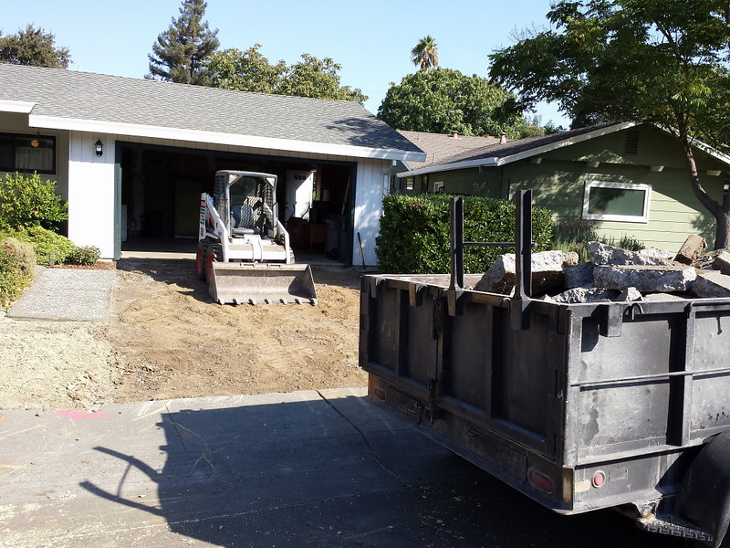 Old Concrete Driveway Removal In Davis - Solano County