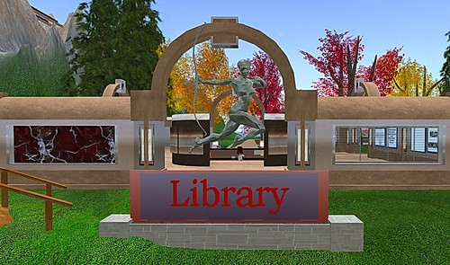 Library at Rockcliffe University in Second Life