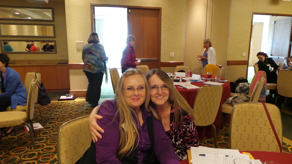Deb and Barbara at the Leadership Summit