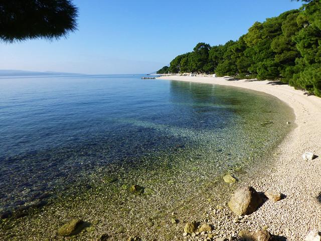 A famous Dalmatian beach
