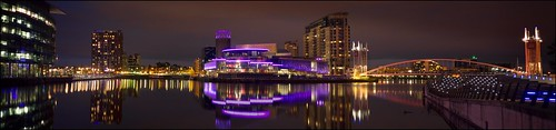 Salford Quays by Night by geospace
