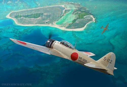 Japanese A6M3 Zero Mod. 32 by Ron Cole