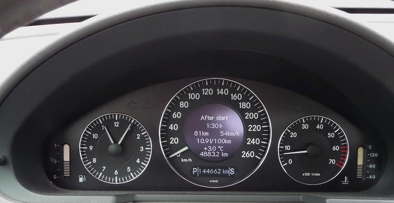Conducción eficiente en ciudad de un E500