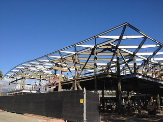 Progress on the new studio arts building, set to open in fall of 2014. Photo taken Dec. 4, 2013.