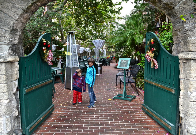 Harry's Seafood bar and grill Restaurant, St. Augustine - garden area