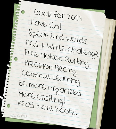 goals for 2014