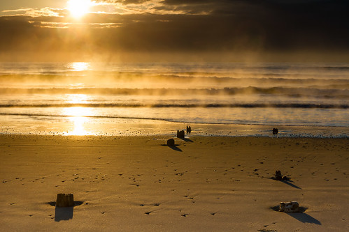 Sea Smoke at Narragansett Beach - Mike Dooley