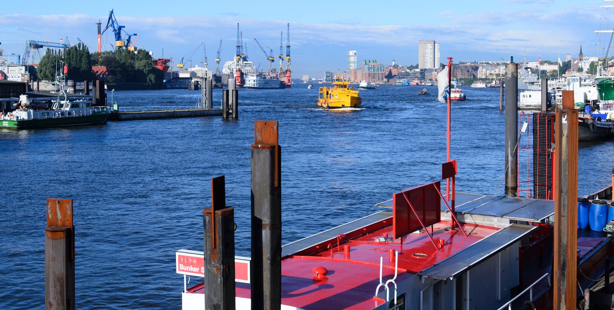 Hamburg germany shipyard colourful