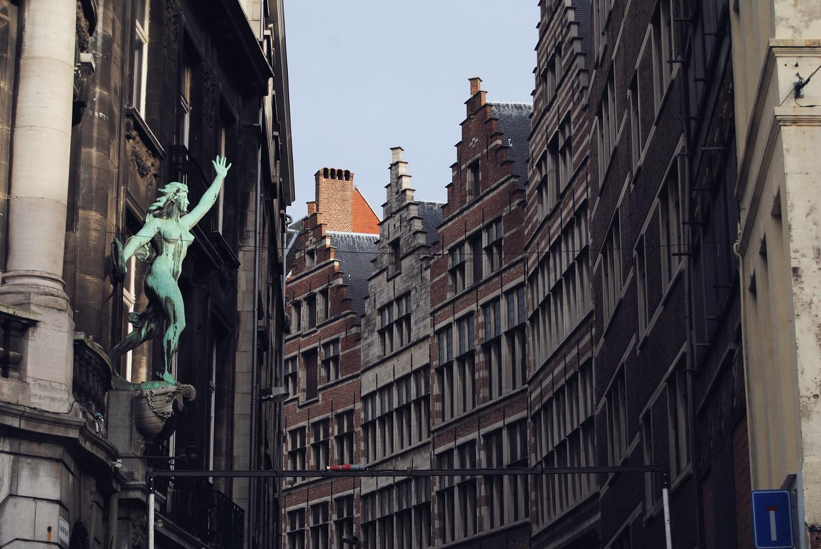 A view of the Kaasstraat in Antwerp.