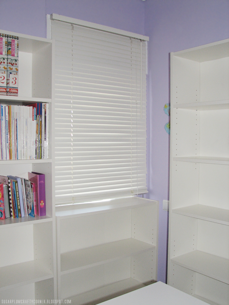 Craft Room Furniture: White Venetian Blind