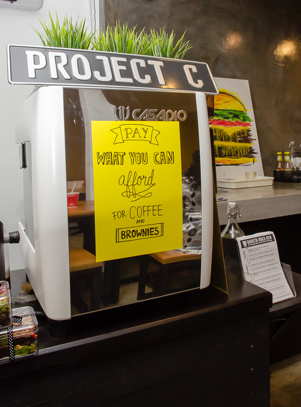 Project: C, a pop-up cafe by myBurgerLab