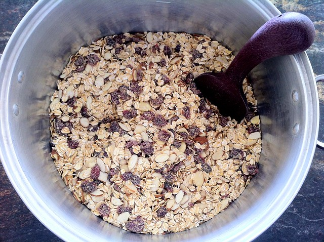Dry Ingredients Combined for Granola