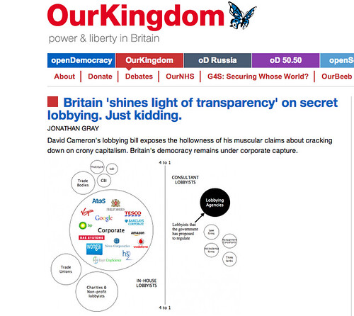 My piece on the UK's new lobbying bill on Open Democracy