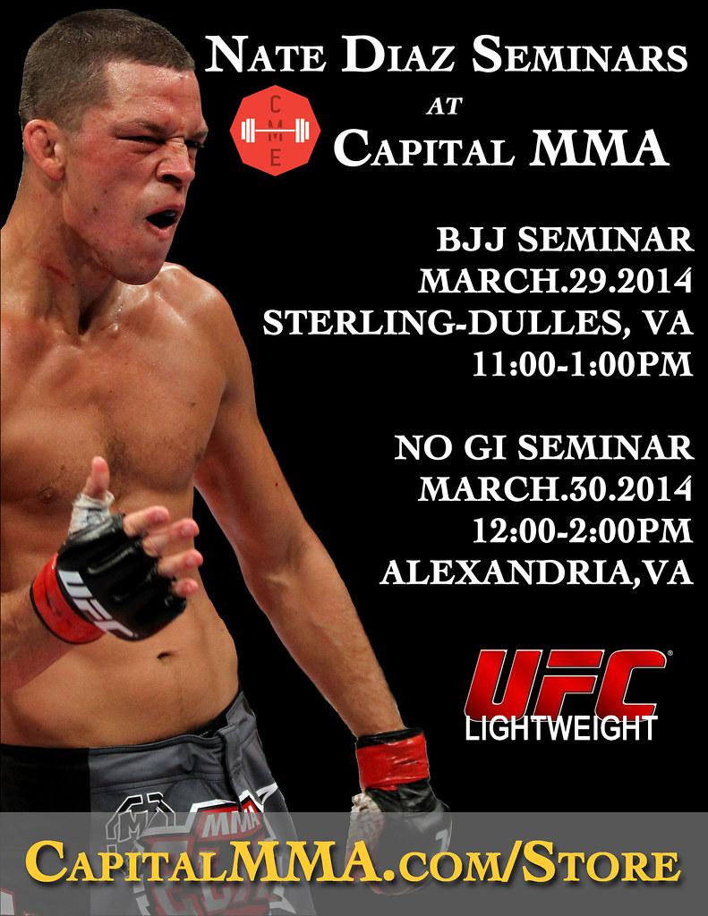 Nate Diaz Seminars at Capital MMA & Elite Fitness