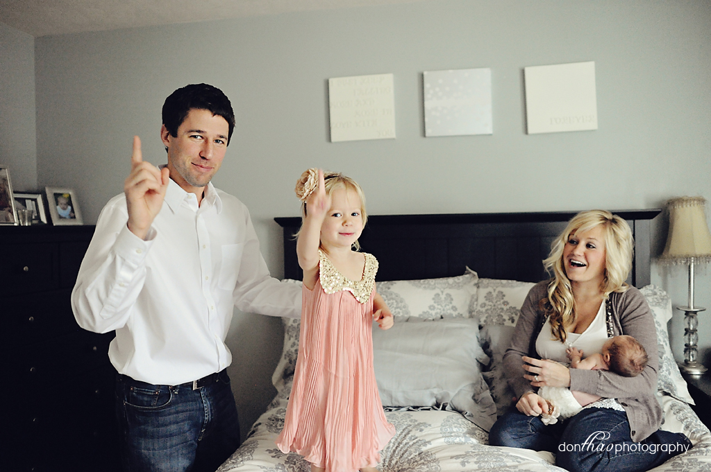 Fun Michigan Family Photographer - No Monkeys Jumping on the Bed