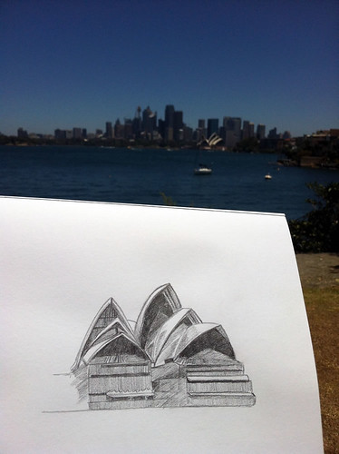 Opera House Sketching by Neeti\