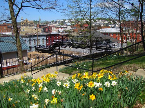 bridge virginia downtown daffodils staunton wilsonpark searshill