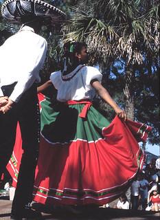 Ballet Folklorico Martinez performs at the Fiesta - Immokalee, Florida