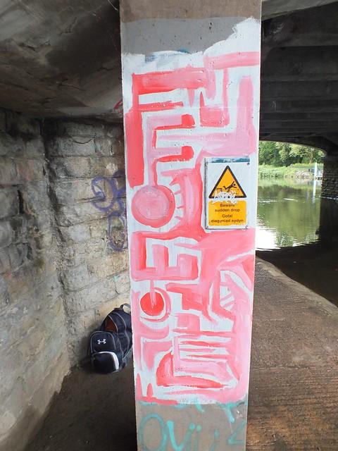 Street art on River Taff, Cardiff