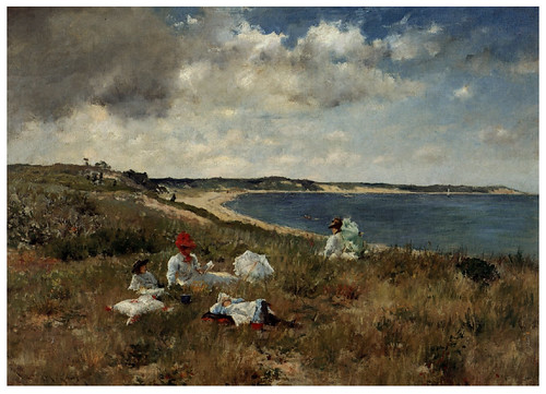 008 Horas ociosas-1894-Pintura al oleo- William Merritt Chase