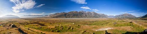 newzealand sky mountains clouds landscape panoramas paisaje paisagem céu cielo nubes nuvens pastures grasslands montanhas montañas photostitch valleys novazelândia valles nuevazelanda vales pastizales pastagens