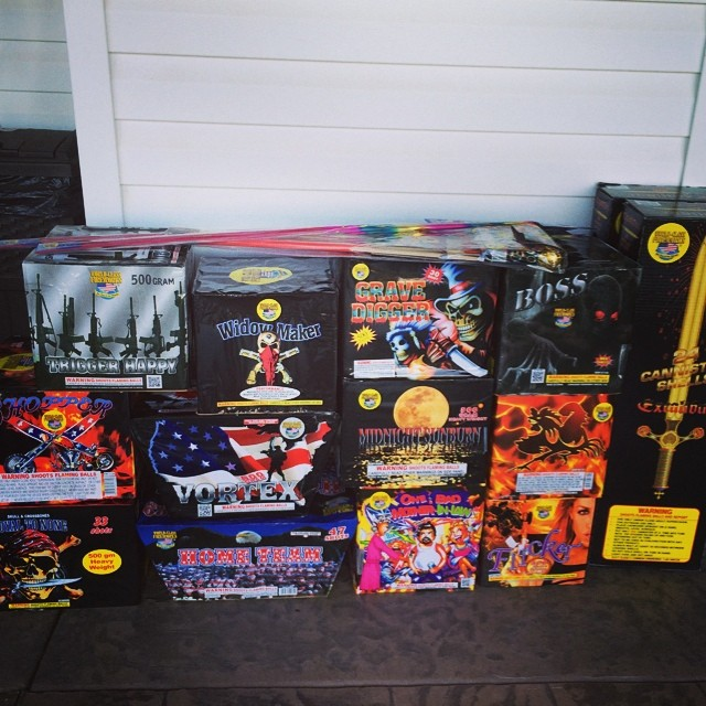 My MIL's #fireworks!! #july4th #summer #fun #tennesee