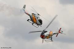 Waddington Airshow 2014 Patrulla ASPA helicopter display team EC120 Colibri helicopter