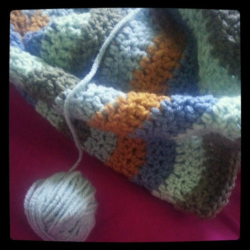 This blanket is so the wrong thing to be making for this weather... #summer #crochet #chevronblanket