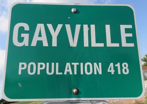Gayville Sign (Gayville, South Dakota)