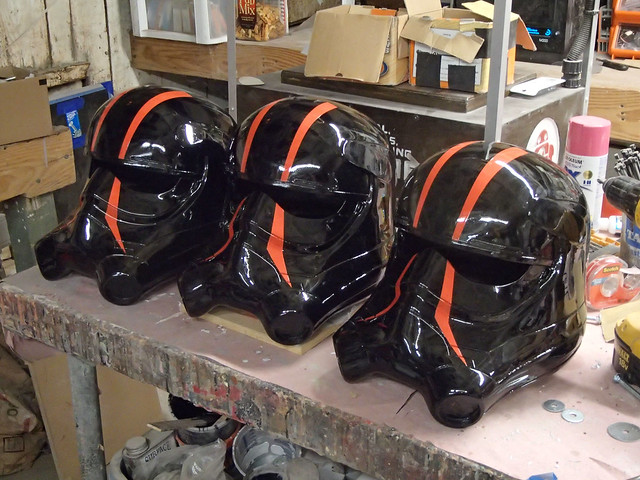Spec Ops Helmets Lined Up