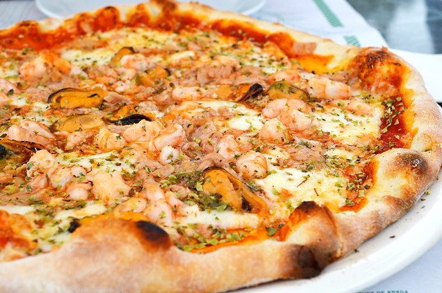 Seafood Pizza, Cafe Europa, Puerto de la Cruz, Tenerife