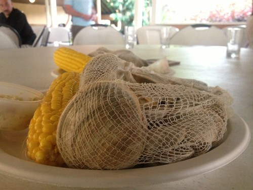 Corn and clams