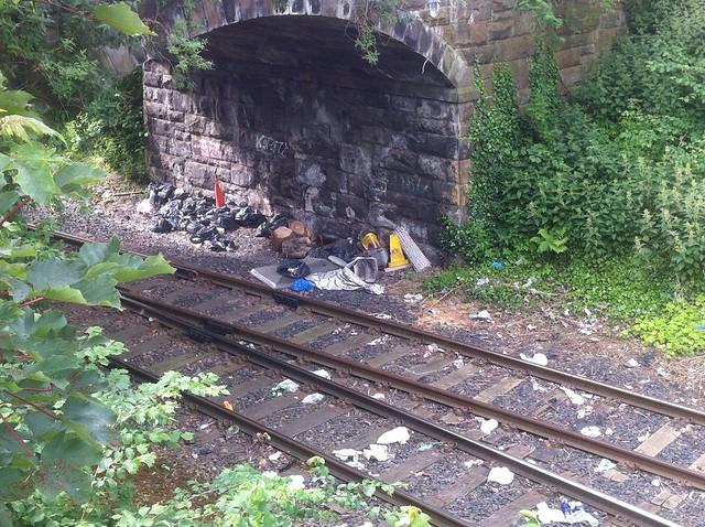 Dumping under the Dryden Terrace Bridge