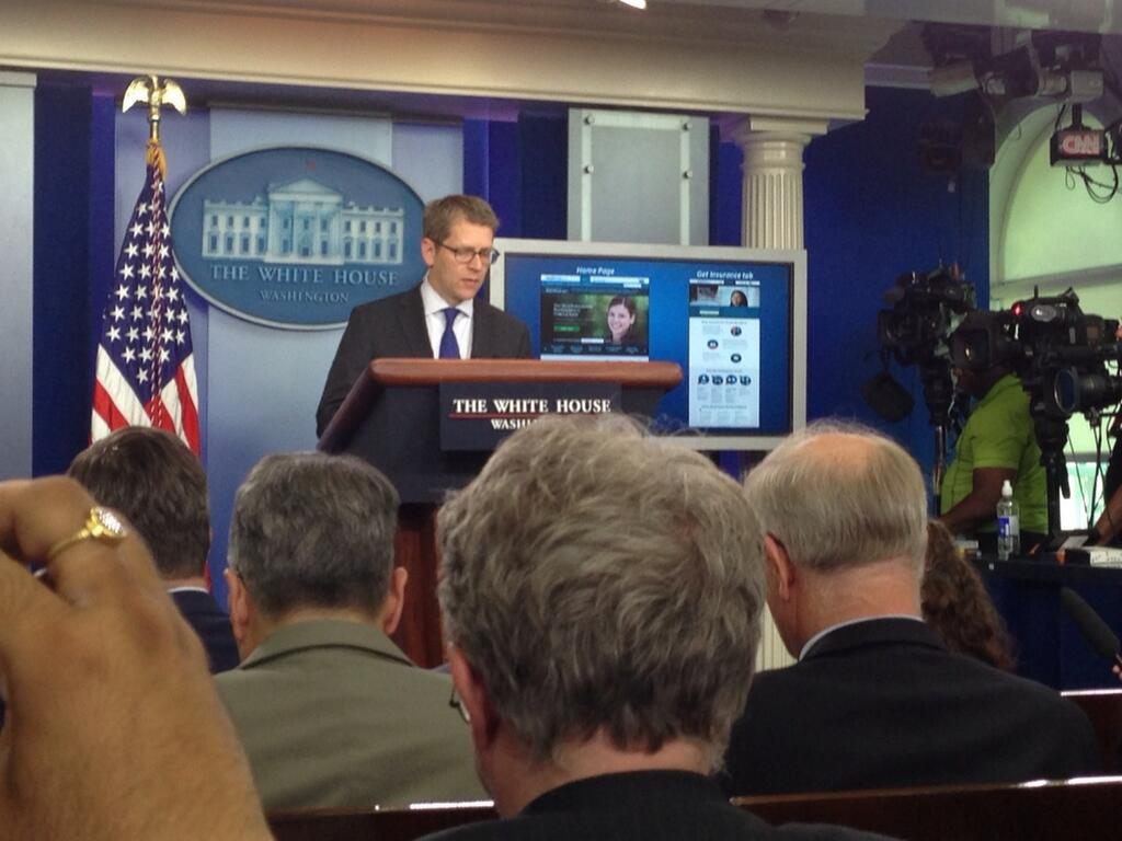 Press Secretary Unveiling Healthcare.gov
