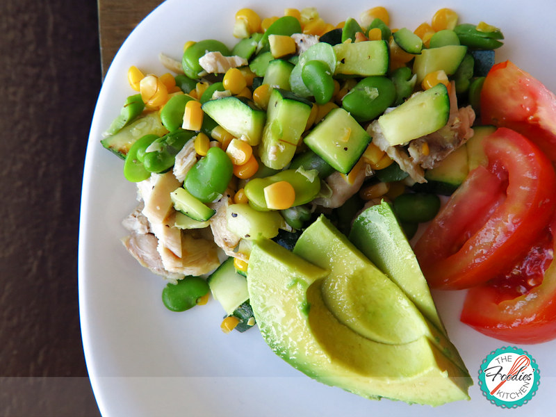 Summer Succotash with Chicken & Avocado