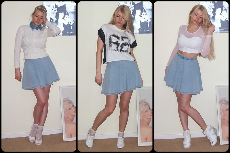 Circle Skirt  Mini Skirt  Denim  Double Denim  How to Wear  Crop TopHow To Wear Denim Mini Skirt