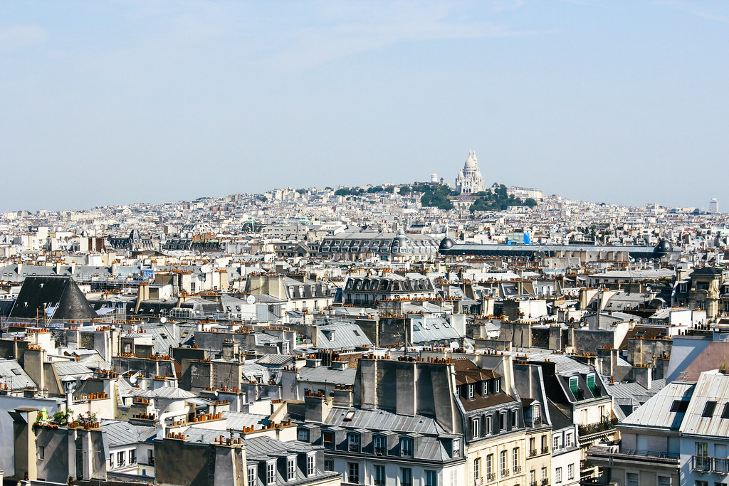 View of Sacré-Coeur from Centre Pompidu