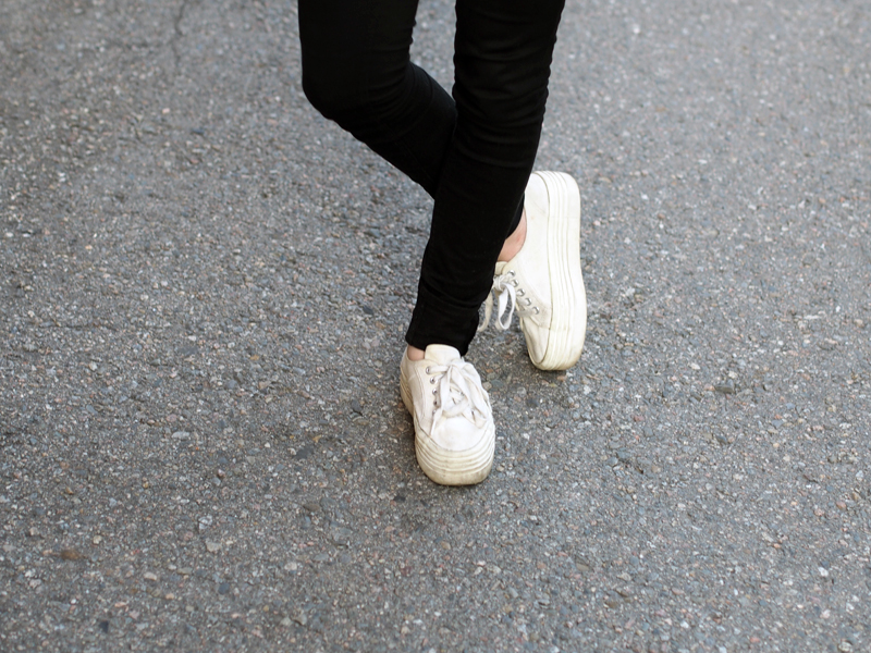 white flatform sneakers
