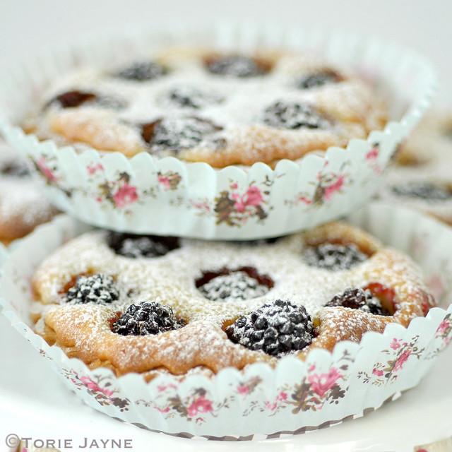 Gluten free blackberry frangipane tarts