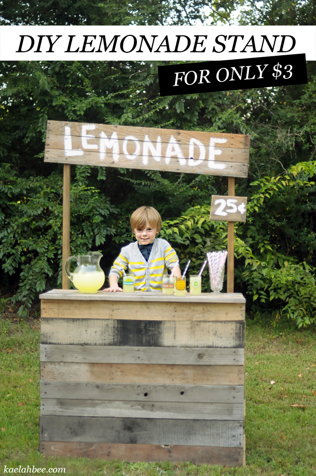 // DIY Roadside Lemonade Stand (for only $3!)